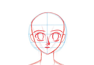 How To Draw Anime Manga Face Step 7