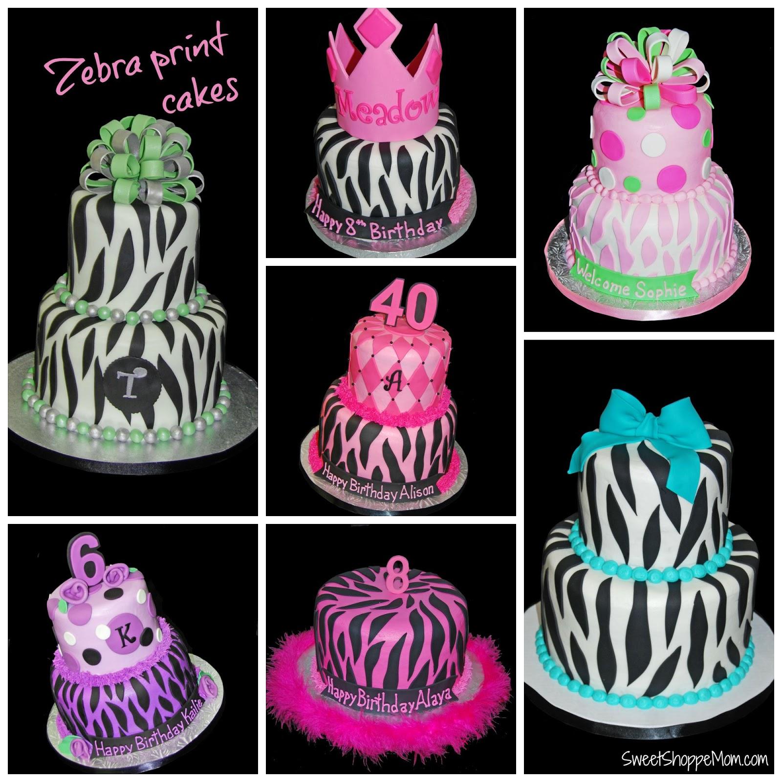 Zebra Print Cakes Sweet Shoppe Mom Phoenix Az Blogger