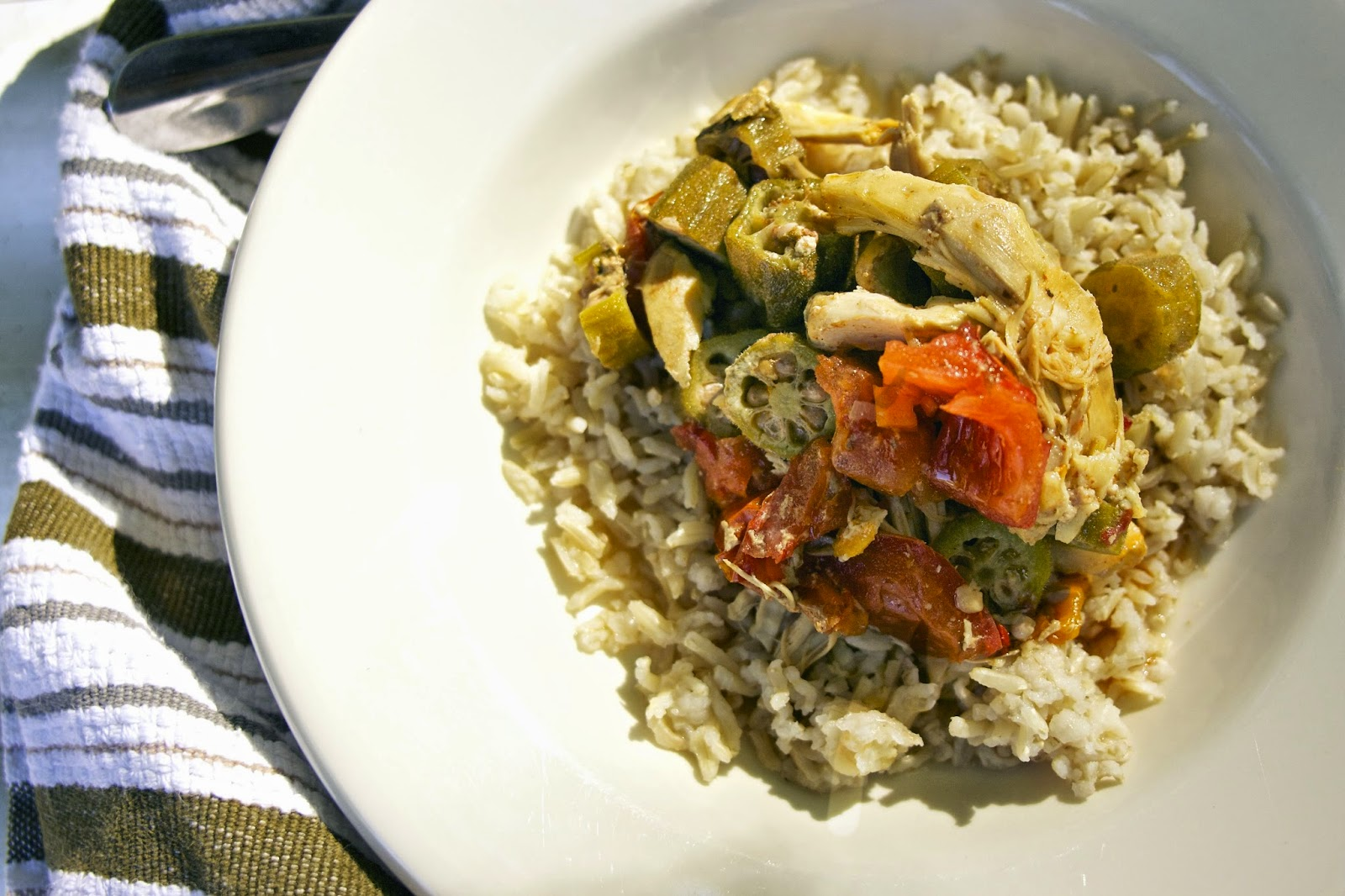 Slow Cooker Chicken Okra Stew- simplelivingeating.com