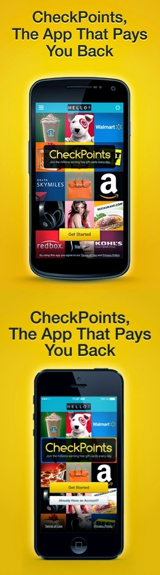 Checkpoints - The mobile app that pays you back