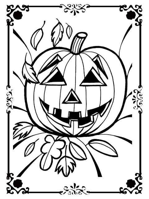 scary halloween pumpkin coloring pages