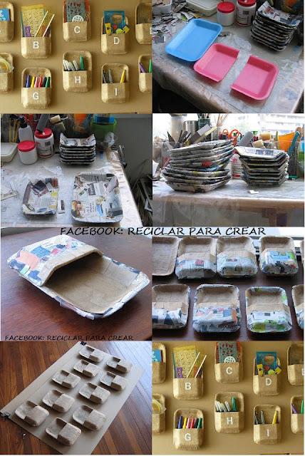 Reciclar las bandejas de comida descartables