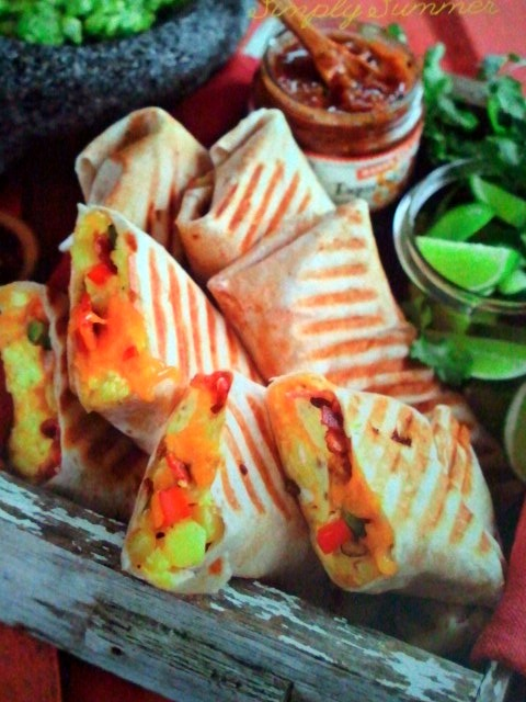 Everything Sweet: The Sweet Eat of the Day- Pressed Breakfast Burritos