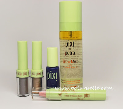 Pixi swatches, lip, nails, eyeshadow, skincare