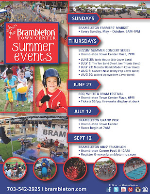 Things to do Loudoun County: Brambleton Summer Events List