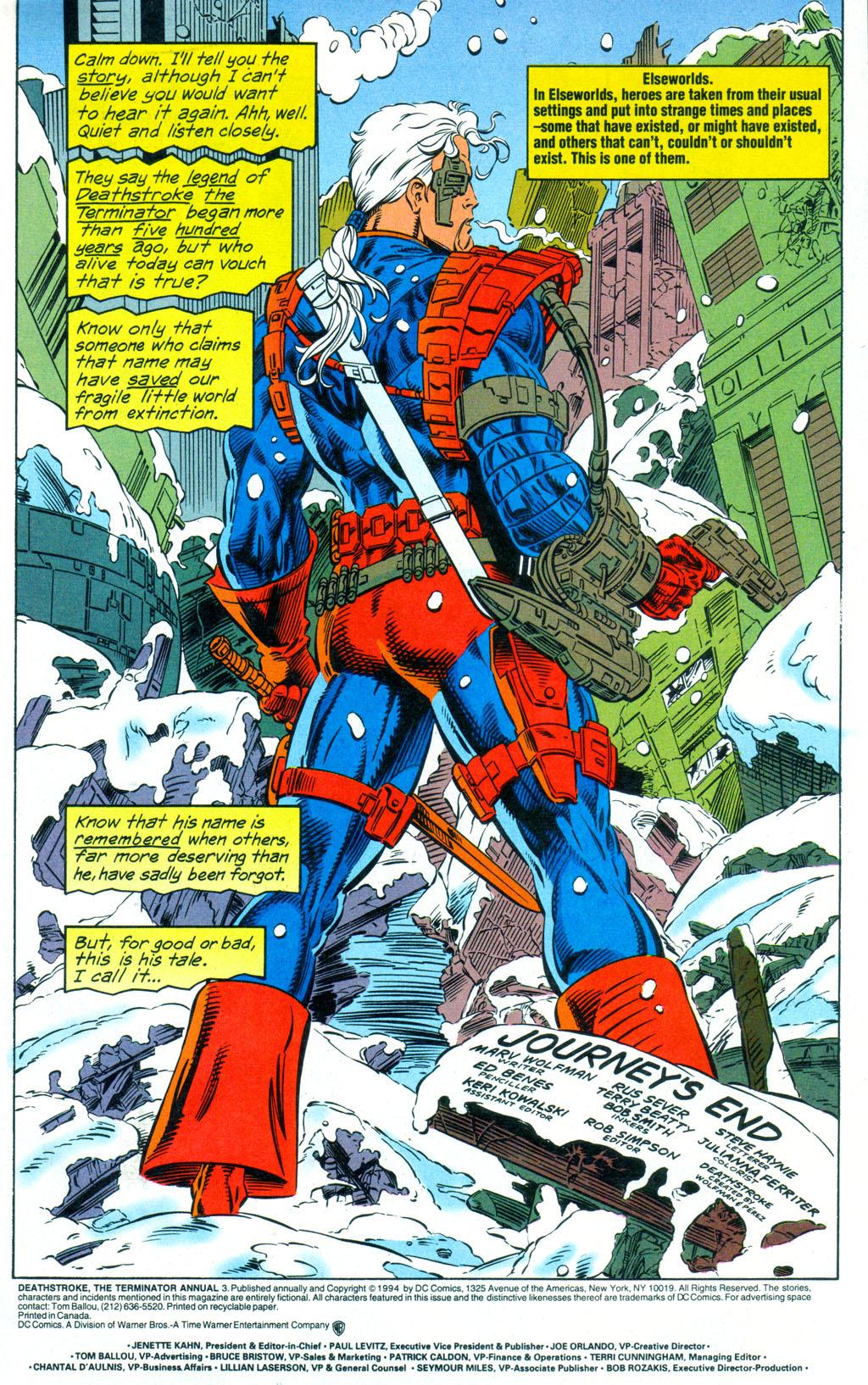Deathstroke (1991) Annual 3 #3 - English 2