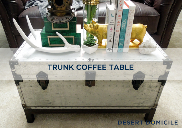 Winter Pinterest Challenge DIY Trunk Coffee TableDesert Domicile