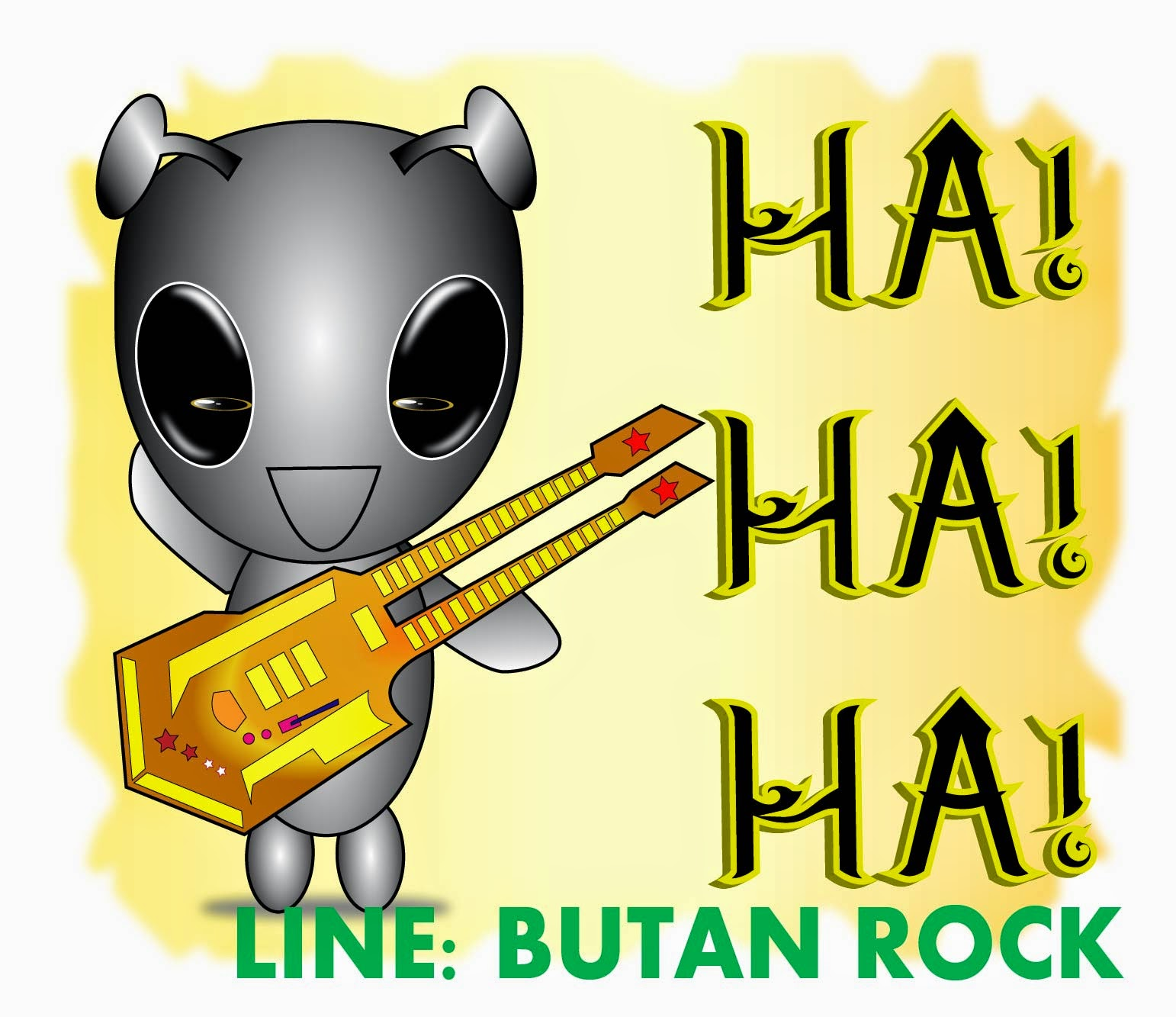 Butan Rock Gift Line Sticker