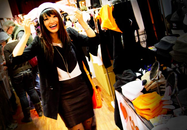 Vintage Fashion, Thrift Fashion, Street Style, Style, Punch Brand, Crazy Heads, bunny hat, faux fox tail, Obbaki leather skirt, H&M heart shirt, H&M boyfriend blazer, Betsy Johnson shear bow tights, Make it Handmade revolution