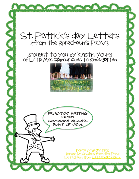 http://www.teacherspayteachers.com/Product/Leprechaun-Point-of-View-St-Patricks-Day-218710