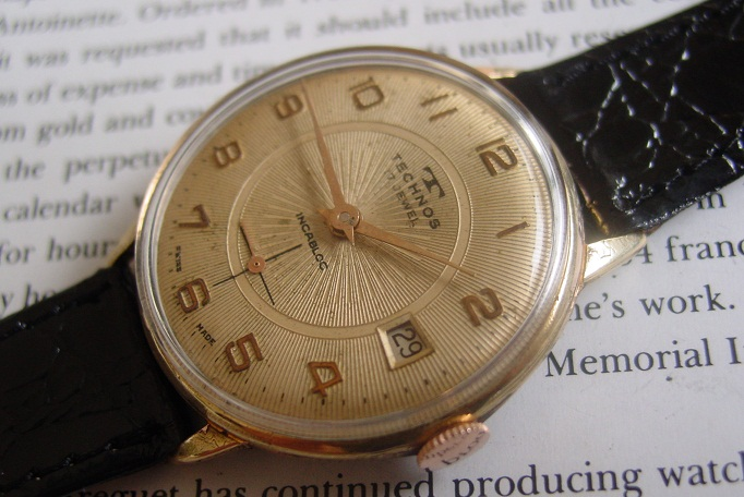 Technos watch 17 jewels sub second vintage men 39 s wristwatch for Technos watches