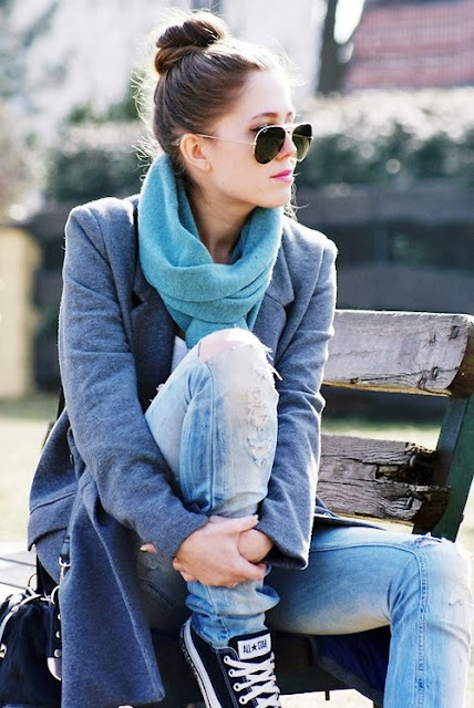 Khăn len ống cho nữ