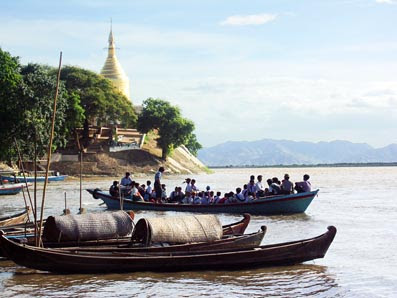 Irrawaddy River at Bagan
