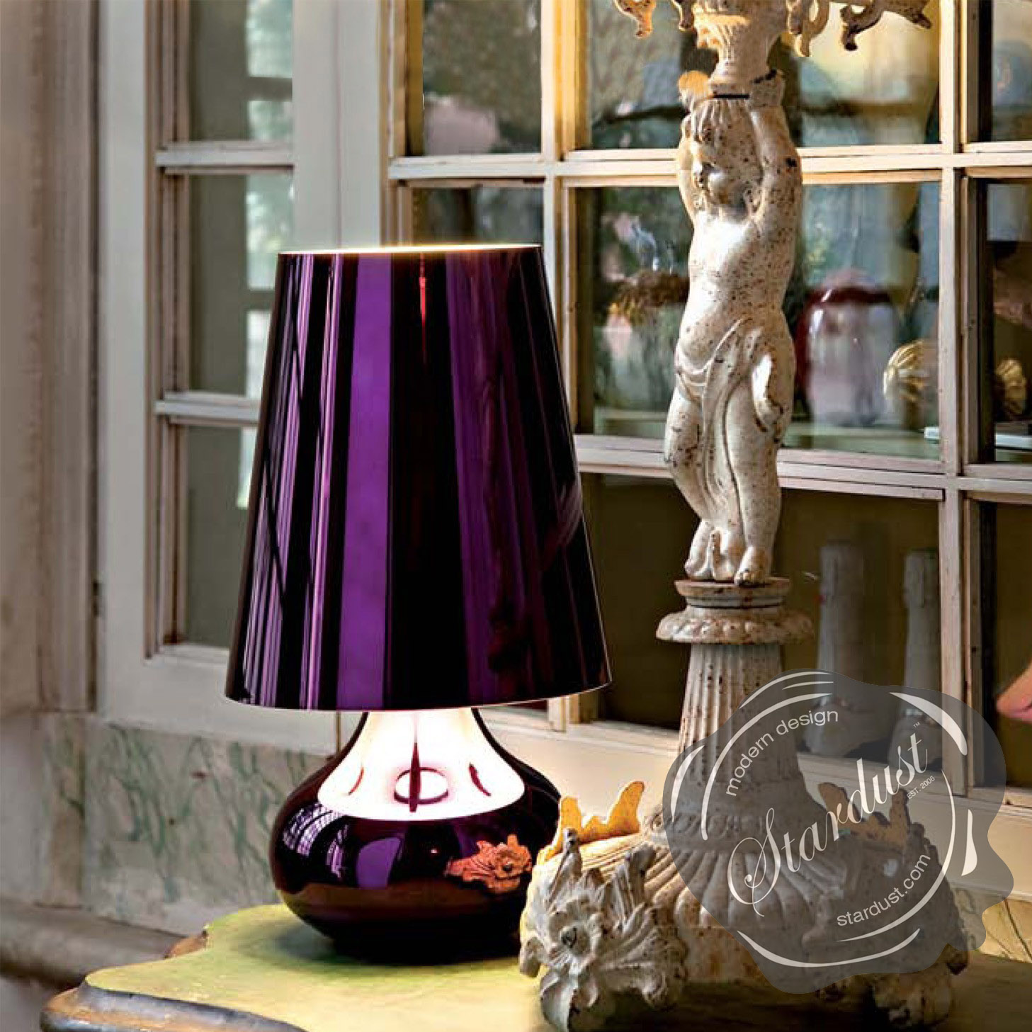 Modern interior design cindy 16 12 h table lamp with empire cindy 16 12 h table lamp with empire shade by kartell geotapseo Choice Image