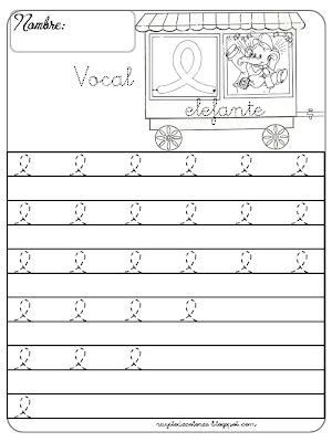 caligrafía Vocal e