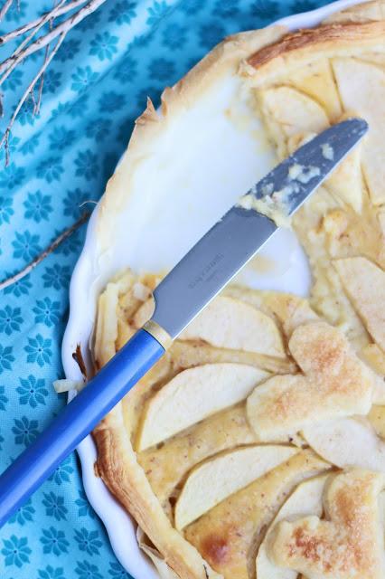 tarte aux pommes, pie cake box