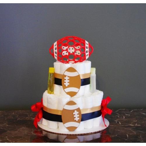 Baby Shower Cakes In Atlanta ~ Diaper cakes atlanta football cake