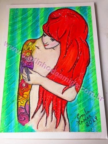 meus desenhos, desenhando a vida, ariel se tatuando