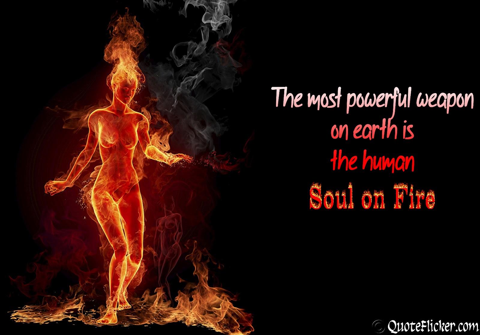 Human Soul On Fire