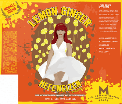 McCall Brewing Lemon Ginger Label Design