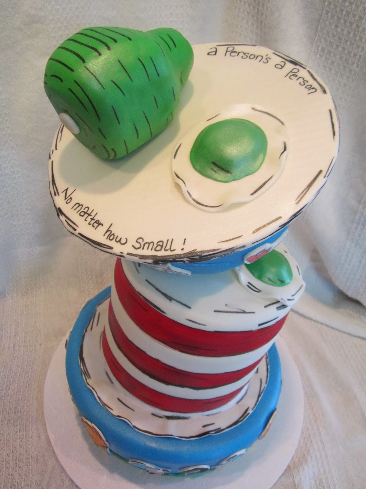 MyMoniCakes Topsy Turvy Dr Suess Inspired Baby Shower Cake Thing