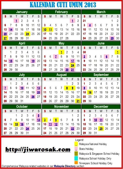 Kalender Cuti Sekolah 2015