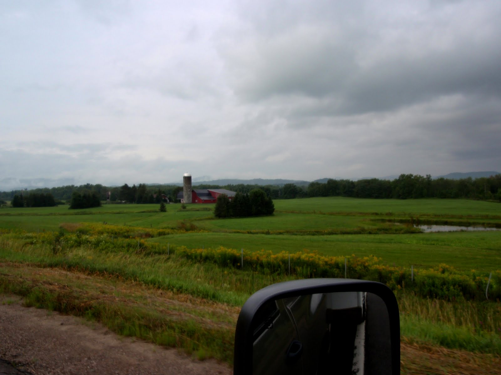 Farm fields close to Montreal