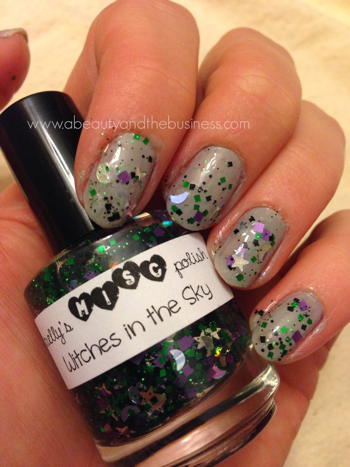 Holiday nails, holiday nails halloween edition, halloween nails, halloween nail art, halloween skittle nails, skittle nails, nail art, manicure, trelly polish, trelly, trelly witches in the sky, pumplin nail art, glitter polish.