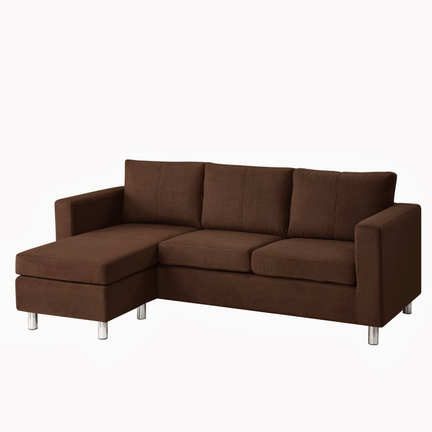 Small sectional sofas reviews small sectional sofa with for Brown sectionals with chaise