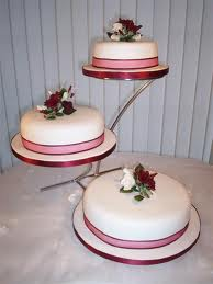 Tier Wedding Cake With Different Sized Tiers