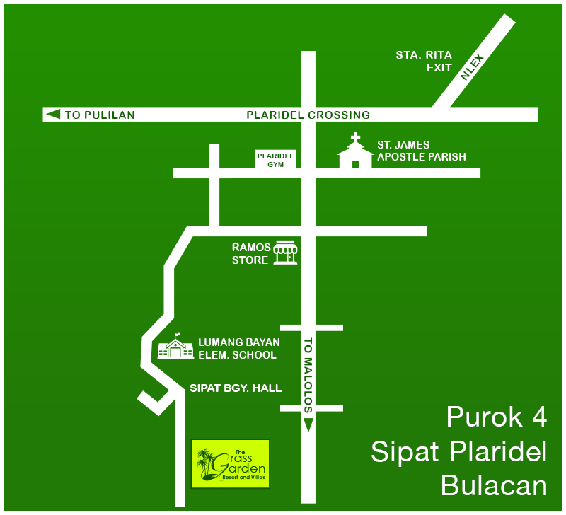Green Start Web Page Site Map: Bulacan Resorts (Philippines): Grass Garden Resort And Villas In Purok 4 Sipat, Plaridel, Bulacan