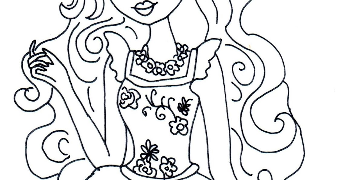 Free Printable Ever After High Coloring Pages Ashlynn Ella Mirror Beach Page