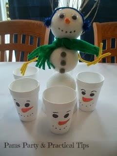 pictures of ideas for a snow day/snowman party