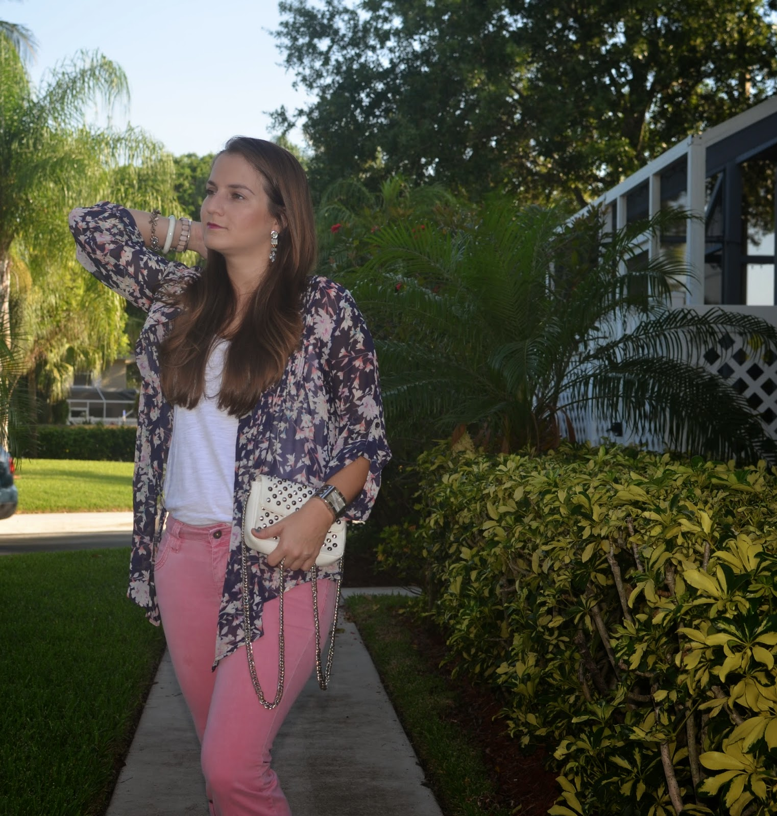 Pink pants - kimono - Emma & Sophia