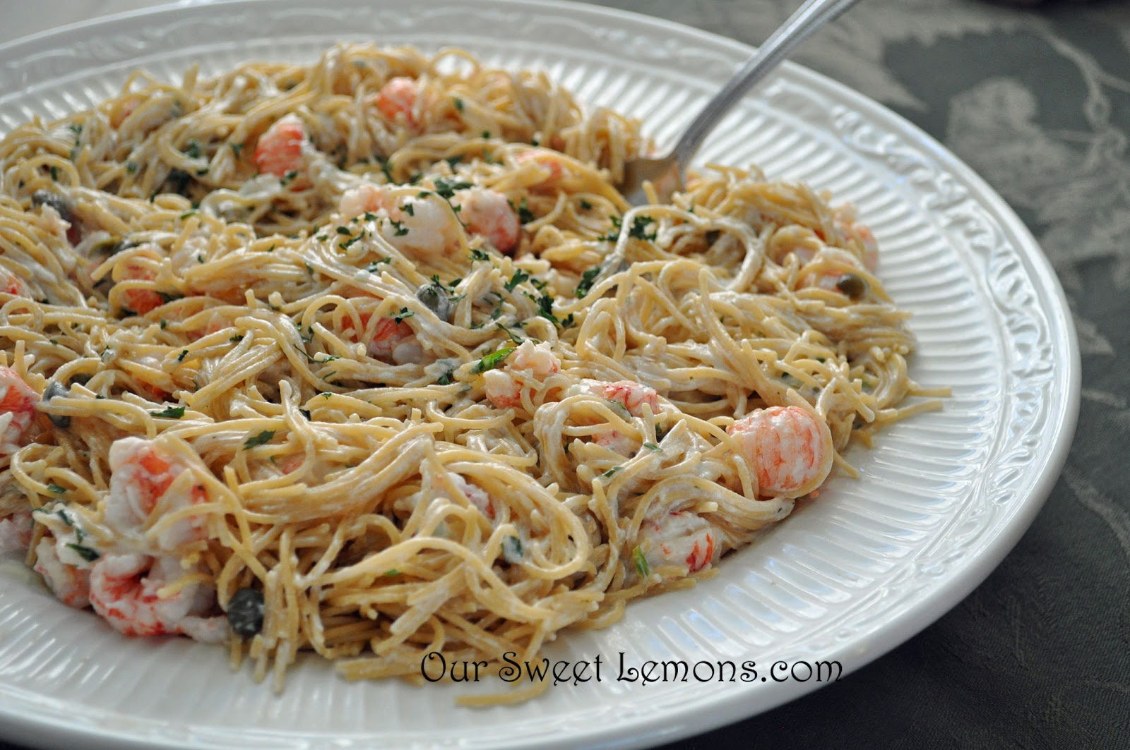Our Sweet Lemons: Langostino and Pasta in Lemon Caper Cream Sauce