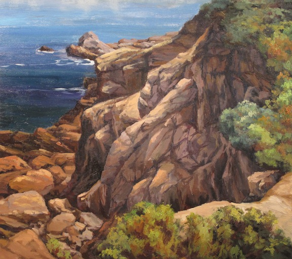 Saatchi Art: Tree on a cliff Painting by Giuseppe Costantino
