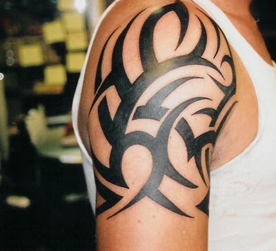 Tribal Shoulder Tattoo