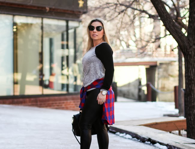 Grey Sweater with Black Sleeves