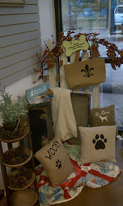 Stenciled Bags and Pillows
