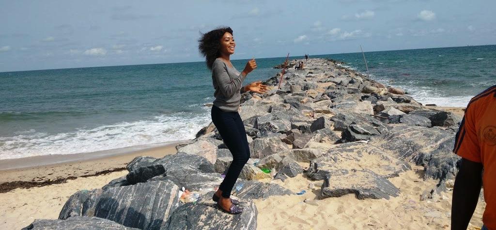Celina Ideh at Elegushi Beach
