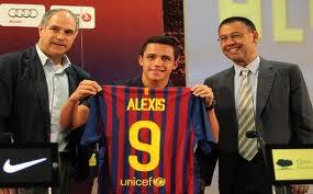 alexis sanchez su llegada a barcelona
