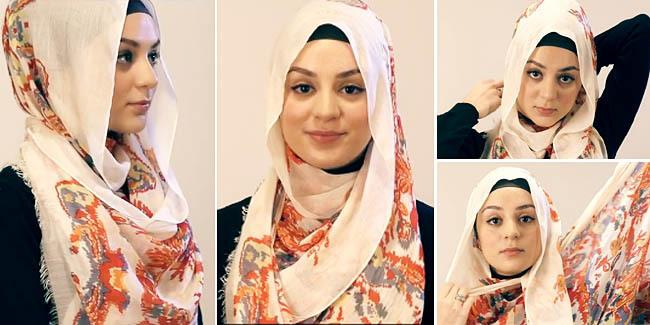 Cara Memakai Jilbab Pashmina Segi Panjang   Cara Memakai Jilbab Kreasi ...