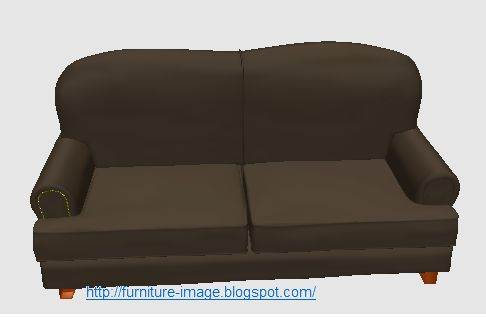 black sofa 2 seat picture