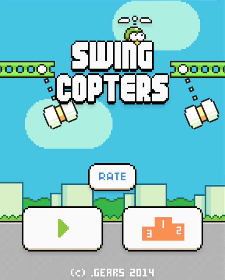 Swing Copters Free App Game By Dong Nguyen