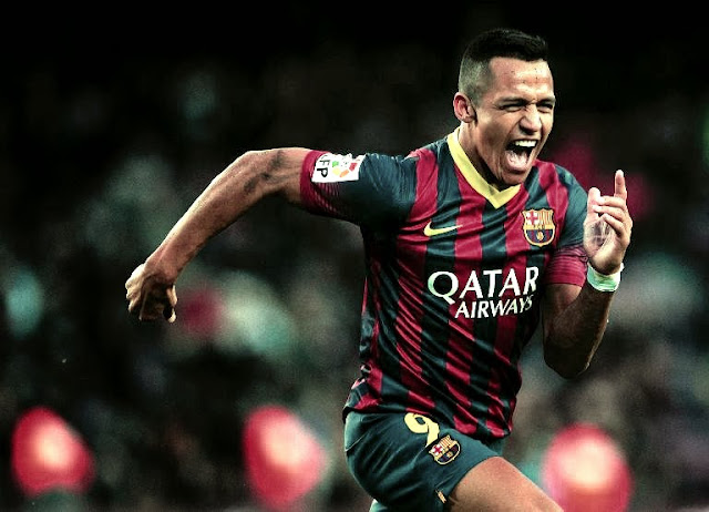 Alexis Celebrating Scoring from a free kick against Elche