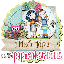 I made the Top 3 at The Paper Nest Dolls