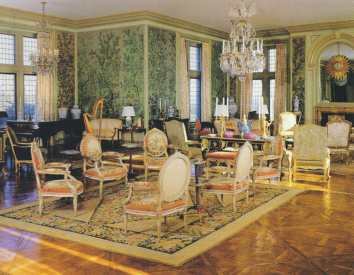 She began purchasing art and antiques for the house which she combined with duke family heirlooms she continued to collect furniture for the home
