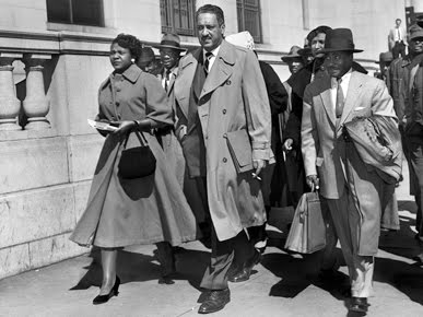 photo of Autherine Lucy, Thurgood Marshall, and Arthur Shores