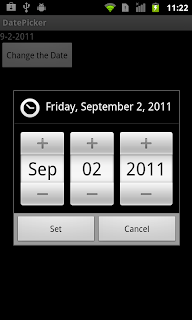 Date Picker example in android