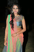 Manasa Glamorous Photos in Half saree-thumbnail-4